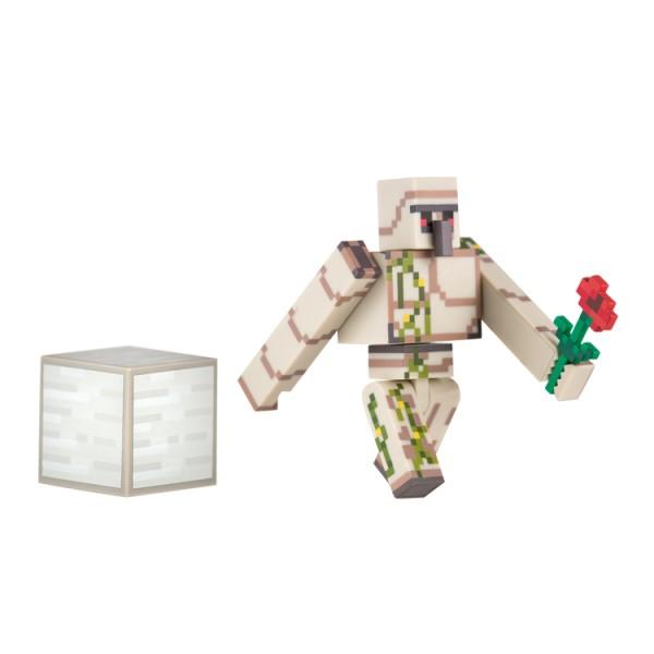 Фигурка Железный голем (Iron Golem) из игры Minecraft (Майнкрафт).  В комплекте с фигуркой: блок железа и мак.  Фигурка полностью подвижная.  Материал - пластик. Размер: 8см