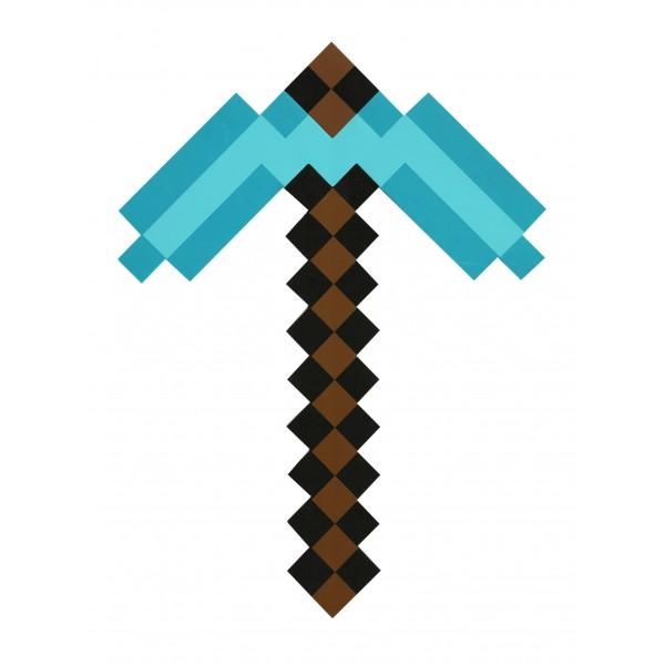 Большая игрушечная Алмазная кирка героя игры Minecraft (Майнкрафт).