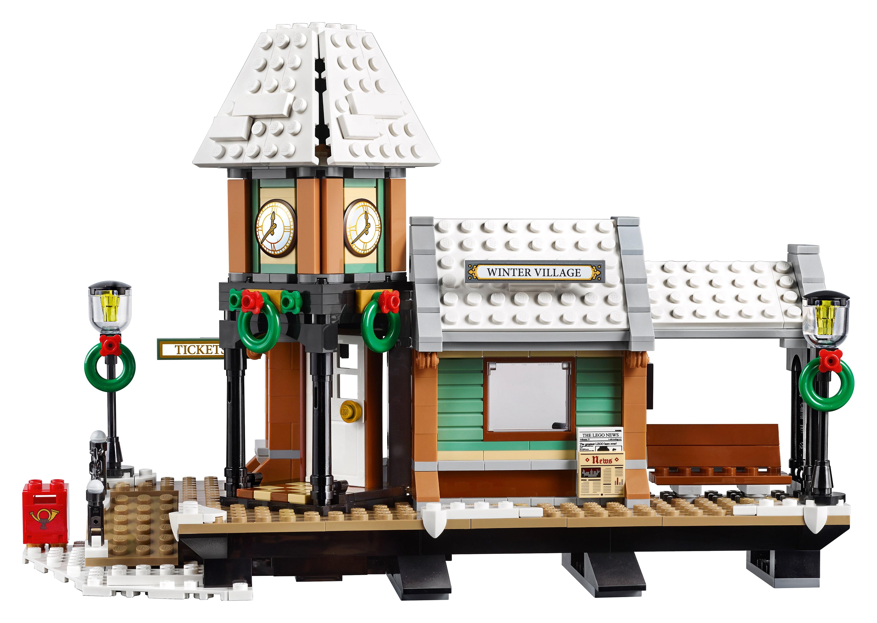 купить набор лего 10259 зимняя жд станция