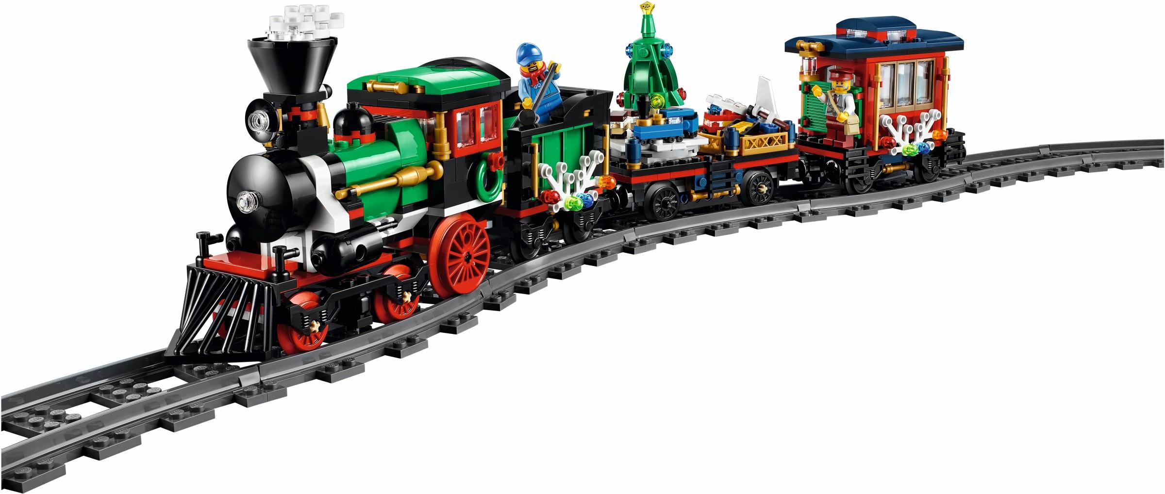 новогодний лего поезд