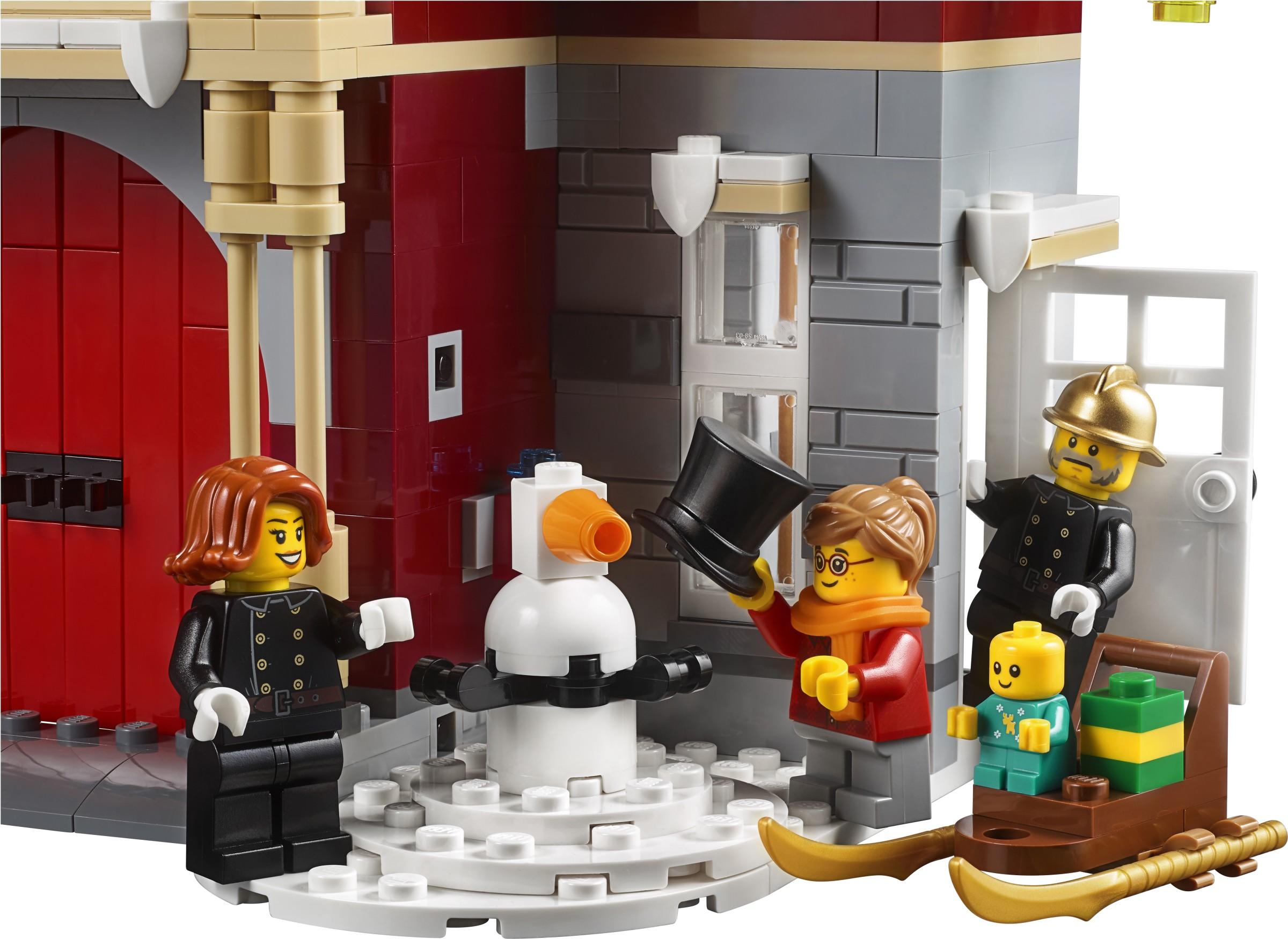 Вход в пожарнаую часть LEGO 10263